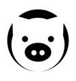 pig head farm icon vector image vector image