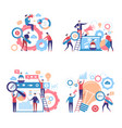 promotion characters business people advertise vector image vector image