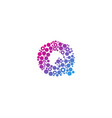 q particle letter logo icon design vector image