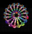 rainbow gypsy wheel vector image vector image