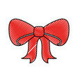 red bow tie ribbon decoration ornament vector image