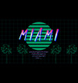 retrowave font in 80s style pink green gradient vector image vector image