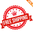 Rubber stamp free shipping - - EPS10 vector image vector image