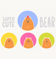 set bear vector image