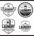 set of labels or logos for laundry service vector image vector image