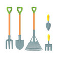 set of working tools for gardening vector image vector image