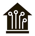 smart house icon simple style vector image vector image