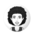 sphere half body teen with curly hair vector image vector image