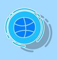 sticker unusual look dribbble social media icon vector image vector image