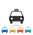 taxi car icon isolated on white background vector image