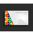 Template for Business Card vector image vector image