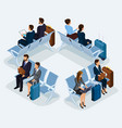 trendy people isometric 3d businessmen vector image vector image