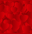 valentines day heart seamless pattern background vector image