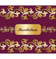Vintage Royal classic ornament invitation border vector image