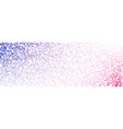 white banner with colorful dotted pattern vector image vector image