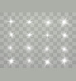 white glowing light vector image vector image