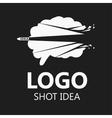 Brain Logo silhouette design vector image