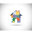 Abstract color house vector image vector image