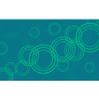 Abstract green circles background vector image vector image