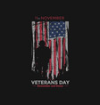 american flag veterans day design tshirt vector image vector image