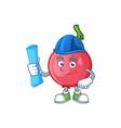 architect cartoon lovi lovi fruit with mascot vector image vector image