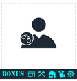 Arrest icon flat vector image vector image