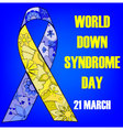 Background-down-syndrome-day vector image