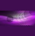 black and glowing color lines neon design magin vector image vector image