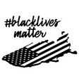 black lives matter or i cant breatext on usa vector image vector image