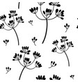 black on white flowers seamless pattern vector image vector image