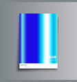 blue gradient cover background for banner vector image