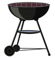 cartoon bbq grill on wheel vector image vector image
