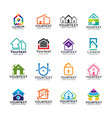 collection of home and building logos vector image vector image