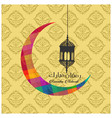 colorful cresent moon ramadan kareem pattern vector image