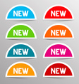 Colorful New Labels - Paper Bent Circle Set vector image vector image