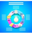 Dairy products infographics with circle from vector image vector image