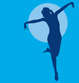 dancing woman silhouette vector image vector image