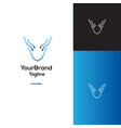 deer technology logo template vector image vector image