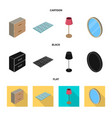 design of bedroom and room sign set of vector image