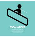 Escalators vector image