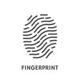 fingerprint verification poster with text vector image vector image