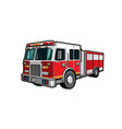 fire engine truck firetruck car firefighters vector image