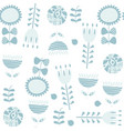 floral seamless blue gentle pattern it is located vector image vector image