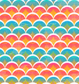 funny circle seamless pattern vector image