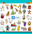 g is for educational game for children vector image