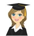 graduation girl vector image vector image