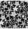 Graphic starfish seamless pattern vector image