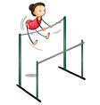 gymnast vector image