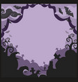 halloween border for design with spooky items and vector image vector image