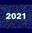 happy new year 2021 festive vector image vector image